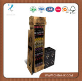 Custom Flooring Wine Store Wooden Wine Bottle Display Stand