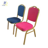 Commerical Hotel Furniture Fabric Aluminum Stacking Banquet Hotel Chair