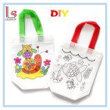 Custom Wholesale Non Woven Kids Drawing DIY Painting Hand Bag