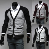 Man′s Cotton Knitted Cardigan Sweater for Spring and Autumn