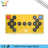 15PCS Lamps Yellow Flashing LED Aluminum Traffic Sign Board