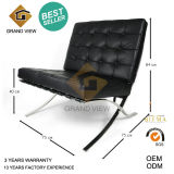 Black Leather/PU Barcelona Chair Design Furniture (GV-BC01)
