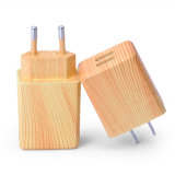 Wooden Pattern Dual-Port USB Charger