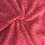 100% Polyester Wave 2jacquard Flannel Fleece