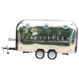 High Quality Stainless Steel Food Cart with Electric Generator