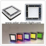 Colorful Aluminum Solar LED Underground Brick Light