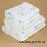 Wholesale Promotional Printing Baby Muslin Blanket Swaddle Blanket in China