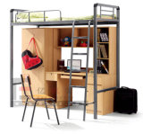 Bedroom Dormitory Bunk Bed with Desk and Wardrobe in School Furniture