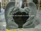 China Black Granite American Style Memorial Tombstone Monuments
