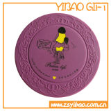 Purple Silicome Cup Mat for Promotional Gifts (YB-CM-09)