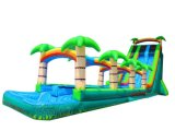 Palm Tree Shore Inflatable Water Slide for Obstacle Game (CHSL583-1)