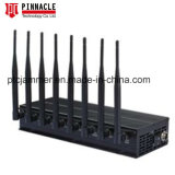 New Lojack Jammer/Blocker for Cellular Phone/Lojack/GPS/Glonass/Galileol1/L2/Wi-Fi/Bluetooth, Desktop 8 Bands Cellphone Signal Jammer with Cheap Price