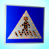 High Brightness Solar Powered Road Sign for Pedestrian Crossing