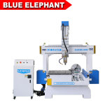 Hobby 3D Mini Small 4th Axis CNC Wood Cutting Router Machine for Table Legs Art Minds Wood Crafts