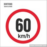 Custom Rust Free Aluminum Safety and Security Road LED 60 Speed Limit Reflective Material Traffic Sign