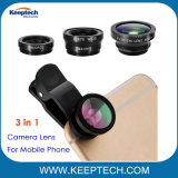 Universal 3 in 1 Camera Fisheye Macro Lens for Mobile Phone and Tablet