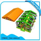 Kids Outdoor Inflatable Fun City Amusement Park with Roof