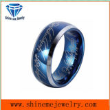 Shineme Jewelry Blue Tungsten Ring Men′s Ring (TSTBL10)