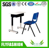 Commecial Classroom Furniture Single Student Desk with Plastic Chair (SF-24S)
