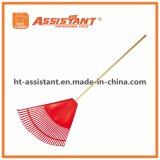 "32"" Resin Head 48"" Hardwood Handle Leaf Rake Shrub Rake"