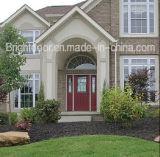 Wholesale Price Double Glass Swing Red Oak Wooden Door