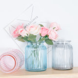 Wholesale Beautiful Crystal Transparent Glass Flower Vase for Home Decoration
