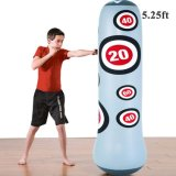 Punching Bag Heavy Punching Bag Inflatable Punching Tower Bag Freestanding Children Fitness Play Adults De-Stress Boxing Target Bag