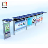 Solar Outdoor Advertising Display with Light Box Aluminium Bus Shelter Manufacturers Stainless Steel Bus Station