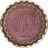 Cheap Shining Purple Glass Dish Party Tabletop Glass Dinnerware Tableware Decor Charger Plate