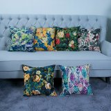 Digital Print Decorative Cushion/Pillow with Botanical&Floral Pattern (MX-23)