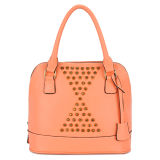 China Wholesale Stud Leather Woman Bag Low MOQ (MBNO032111)