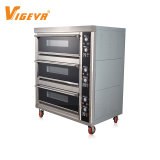 3 Deck 6 Tray Professional Cake Baking Gas Bread Commercial Bakery Pizza Oven Prices