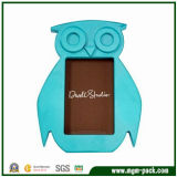 Special Owl-Shaped Blue Wooden Photo Frame Art