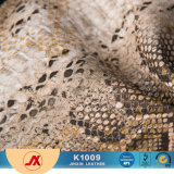 2017 PVC Embossed Snake Skin Synthetic Leather for Making Bags and Others