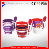 Wholesale Color Ceramic Coffee Mug with Color Spoon in Handle
