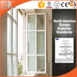 White Solid Oak Casement Window, Classic Decorative Grills for Better Feeling, American Style Oak Wood Casement Window