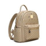 High Quality Newest Brown Fashion Women Rivet Backpack for Girls