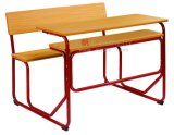 Wholesale Wooden Antique School Furniture Set Double Desk & Chair Guangzhou Everpretty