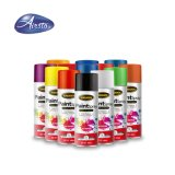 Satin Black Enamel Aerosol Spray Paint Suitable for Interior and Exterior Use