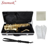 Eb Gold Lacquer Alto Saxophone Price Woodwind Instrument