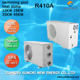 Heat 25~265cube Meter Water Keep 32deg. C Whole Day Cop4.62 Titanium Tube 12kw/19kw/35kw/70kw Thermostat Pool Heatpump Inverter