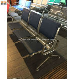 2017 Polyurethane Bench Seat Waiting Chair PU Public 3-Seater Stainless Airport Chair (YA-81PU)