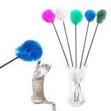New Pet Cat Teaser Stick Plastic Cat Toy with Feather