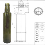 Best Price Round Glass Olive Oil Bottle with Screw Sealing Type in 25cl