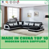 Modular U Shape Leather Wooden Sofa with Louder Speaker