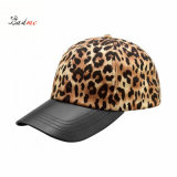 Wholesale Leopard Print Textured Leather Bill Hats