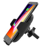 New Design Adjustable 10W Infrared Sensor Qi Wireless Car Charger with Air Vent Mount