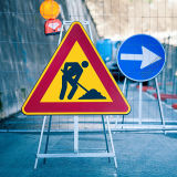 Aluminium Triangle Construction Warning Traffic Signs with Stands