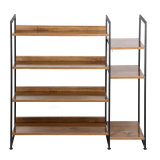 Simple Space Saving Metal 4 Tier Living Shoes Rack for Home