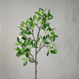 Hot Sale 54cm Green Plastic Artificial Ficus Leaves for Home Decoration